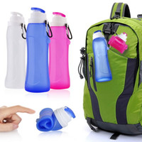 Wholesale 500ml Collapsible Folding Drink Water Bottle Kettle Cup Silicone Travel Sports