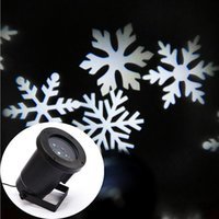 Wholesale Waterproof Moving Snow Laser Projector Lamps Snowflake LED Stage Light For Christmas Party Landscape Light Garden Lamp Outdoor