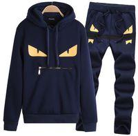 Wholesale Spring Autumn Little monster Sports suit pieces set Tracksuits Men Clothing sets Casual clothes Hoodie Pant Suits For Men