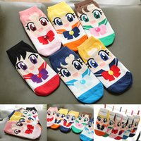 anniversary ankles - Japan Anime Sailor Moon Cartoon Short Socks th Anniversary Women s Cotton Lolita Socks Cosplay Props pair