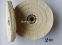 Wholesale 5 quot PLY white Cotton stitch buffing cloth wheel Polishing Pad for polishing jewelry