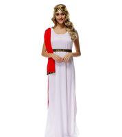 athena game - Games Played God King Zeus Athena Goddess White Dress Cosplay Costume Halloween Costumes Dress Luxurious Club Sets