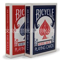 bicycle deck wholesale - Bicycle Poker Blue or Red Bicycle Magic Regular Playing Cards Rider Back Standard Decks Magic Trick