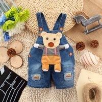 Wholesale Summer Cartoon Pattern Baby Denim Suspender Shorts Factory Direct