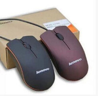 Wholesale New Lenovo M20 mouse mini Wired D Scrub Optical USB Mouse For Computer Laptop DPI