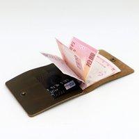 Wholesale Original Genuine Leather Slim short wowen Wallet Money Clip ID Credit Card Holder Passcase deep brown dark red blue Purse