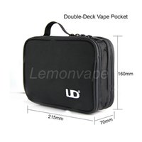 authentic leather bags wholesale - Authentic UD vapor Pocket Double Deck Vaping bag convice barry box mod mega kit and tools for vapor