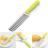 Wholesale 10 Brand New Potato Chip Dough Vegetable Crinkle Wavy Cutter Blade Knife FG091104