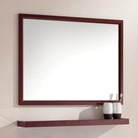 Wholesale The space Aluminum Alloy bathroom combination bathroom mirror wall mirror bathroom cabinet rack with Restroom dressing