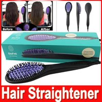 Cheap Hair Straightener Brush Comb Hair Straightening Irons Electric Da fni flat iron Straight Hair Styling Tool with logo VS Hair Curler