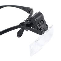 Wholesale B Adjustable Lens LED Illuminated Headband Glasses Bracket magnifier x x x x x Led