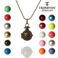 bell ball necklace - TRENDYOU Hollow Harmony Ball Pendant Locket Cage For Angel Bell Chime Bola Engelsrufer Aromatherapy Floating Lockets Charms