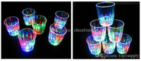 Wholesale Water Liquid Activated Induction LED Flash Light Flashing Glass Cup Plastic Luminous Wine Beverage Beer Cup Mug for Bar Club Patty
