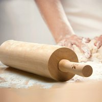 baking rolling pin - Solid Wood Rolling Pin Make Dumpling Skin Baking Tools