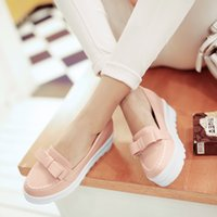 Wholesale Doug shoes new spring sweet Korean shoes bow thick bottom women shoes