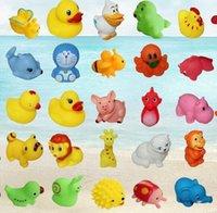 all'ingrosso giocattoli di gomma per i bambini-Animal bagno caldo giocattoli da bagno nuoto del bambino regali di gomma Balneazione lavaggio Imposta figli istruzione Giocattoli per bambini Piscina Gear HHA1057