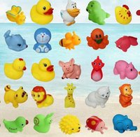 Wholesale Hot Animal Bath Toys Bath Baby Swiming Gifts Rubber Bathing Washing Sets Children Education Toys Children s Swimming Gear HHA1057
