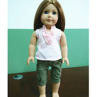 american girl doll clothes - fashion clothes for inch american doll girl dolls clothing accessories T shirt shorts with track code