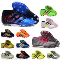 Wholesale New Original mens Outdoor Ankle Football Boots for men ACE Purecontrol FG AG Etch Pack Soccer Shoes Primeknit Soccer Cleats