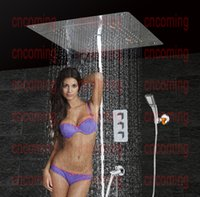 bath shower panels - Bathroom Shower Set with LED Ceiling Shower Head Brass SpoutThermostatic Concealed Panel Bath Shower Product Rain Waterfall Bubble HS5307