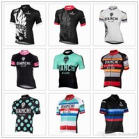 bianchi touring bicycles - 2016 Tour De France Bianchi Cycling Tops Cycling Jerseys Short Sleeve Top Class Lycra Bicycle Clothing For Men Size XS XL Colors