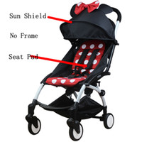 Wholesale Original Baby Yoya stroller Set seat cushion Seat Pad and Sun Shield Cover Shade Shed For Yoya Yuyu baby Stroller