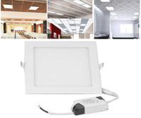 Cheap 3W 4W 6W 9W 12W 15W 18W 24W CREE LED Panel lights Recessed lamp Square Led indoor lights Ceiling Panels Down Light LED 28350 85-265V