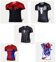 basketball heroes - new Super hero Marvel Comics spider man Compression elastic quick drying Basketball football running fitness tight t shirt