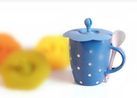Wholesale Chic Anti dust Silicone Glass Cup Cover Coffee Mug Suction Seal Lid Cap