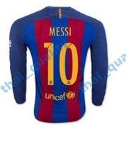barcelona soccer jersey long sleeve - 2016 Thai Barcelona Long Sleeve Jersey Home Away Long Sleeve SUAREZ MESSI NEYMAR JR Football Soccer Jerseys