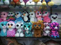 al por mayor juguetes de peluche-15 pcs Ty Beanie Boos juguetes rellenos felpa de los juguetes de los animales grandes de los ojos de los juguetes para los regalos de cumpleaños de los cabritos Envío libre
