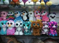beanie toys - 15 Ty Beanie Boos Plush Stuffed Toys Big Eyes Animals Soft Dolls for Kids Birthday Gifts