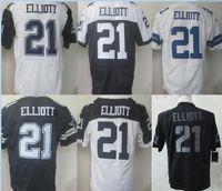 Wholesale NIK Elite Football Stitched Ezekiel Elliott Cowboys White Blue Thanksgiving Football Jerseys Mix Order Limited Edition Custom jerseys