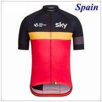 Cheap 2016 Tour De France SKY Cycling Tops 21st Century Belgium England Spain France Cycling Jerseys Quick Dry Bike Wear XS-3XL