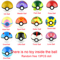 big kid toys - 13Styles CM Pokeball CM Free Random Pokeball Figures Anime Action Figures Toys
