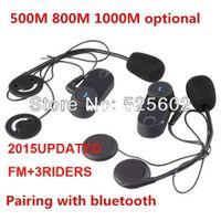 Wholesale 2015Updated version FM TCOM VB Headset Helmet Intercom x BT Interphone M FT Bluetooth Motorcycle riders Intercom