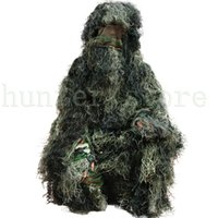 Wholesale Forest Design Camouflage Ghillie Suit Grass Type Jungle Hunting Birding Woodland Sniper D Bionic Camo Suit Outdoor Coveralls