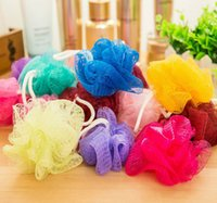 Wholesale 2016 Colorful Bath Ball Bath Companion Showers Bath Flower Bath Sponge Mesh Wash Sponge Color Random