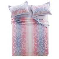 bamboo bedroom sets - flat Bedsheet Pillow sham bedding set bamboo fiber jacquard towel Sheet pillowcases