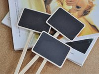 Wholesale Plant Tags Mini Flowers Sticks Small Wooden Blackboard Gardening Supplies Length cm Pieces