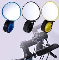 Wholesale Bicycle real view mirror cycling back mirror high quality handlebar back mirror blue yellow and black color