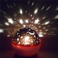 Wholesale Room Novelty Night Light Projector Lamp Rotary Flashing Starry Star Moon Sky Star Projector Kids Children Baby