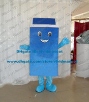 ash trash - Timeproof Blue Garbage Can Ash Bin Trash Can Waste Bin Container Mascot Costume Cartoon Character Mascotte Smiling Face ZZ1703