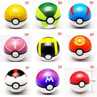 Wholesale 13pcs poke Poke mon Ball Anime Figures cm pikachu figure Pokeball fairy ball Super Ball poke Ball Kids Toys Gift