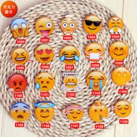 asian clothes wholesale - Cartoon Emoji Fashion Brooch Pin Up Collar Tips Broche Acrylic Harajuku Badge Clothing Bag Accessories Cheap Promotion Christmas Gifts