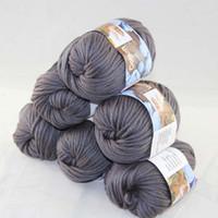 Precio de Carbono especial-LOT de 6 BallsX50g especial grueso worsted 100% algodón hilo de hilo de carbón 2232