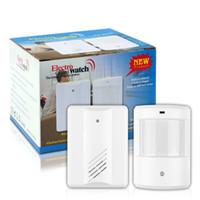 Wholesale 2016 New Security Entry Door Bell Alarm Chime Doorbell Wireless IR Infrared Monitor Sensor Detector Split Alarm