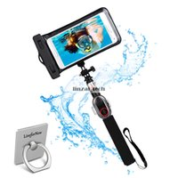 alloy detachable - Waterproof Selfie Stick Handheld Extentable Monopod Smartphone Pouch with Detachable Bluetooth Remote Shutter for All Smartphone