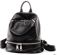 Wholesale Hot Sale New Women Genuine Leather Backpacks Fashion Designer Backpacks Ladies Casual Travel Bags Black