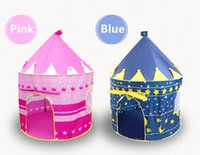 Wholesale Prince and Princess Palace Castle Children Playing Indoor Outdoor Toy Tent colors mixed children s tent blue and pink kids tent